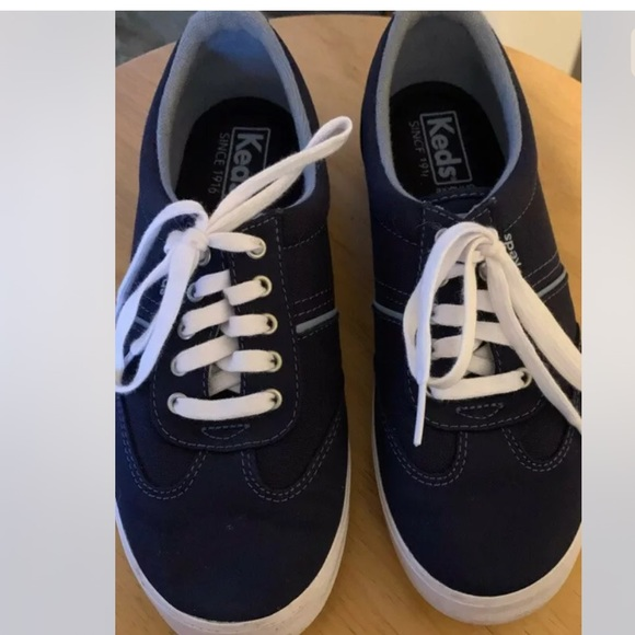 Keds Navy Blue Canvas Sneakers Size 6
